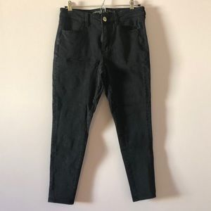 High waisted super stretchy skinny jeans
